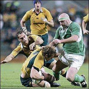 John Hayes against Australia