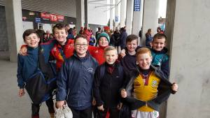 u11' getting ready to play in Thomand park