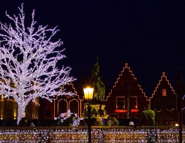 Bruges, la nuit juste avant Noël