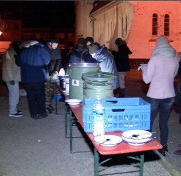 'Feed the hungry' in Zeebrugge