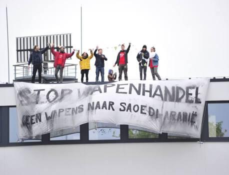 Actie tegen wapenexport in Oostkamp