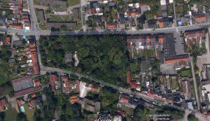 Zo ziet Les Acacias er van bovenaf uit. Foto: google