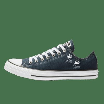 Trouw Converse Low Top Blauw bruidssneakers