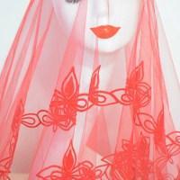 Bruidssluier Rood Velours