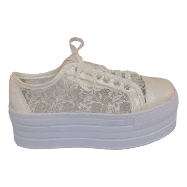 Bruidssneakers lace ivory