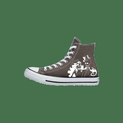 Trouw Converse High Top Grijs Bruin bruidssneakers