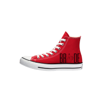 Trouw Converse High Top Rood Bruidssneakers