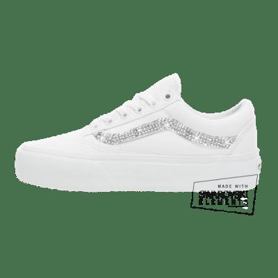 Vans Old Skool Platform White Swarovski Bruidssneaker
