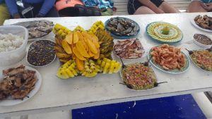 Eten bij de eilandtoer van El Nido