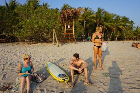 Sunset Banana Beach Santa Teresa