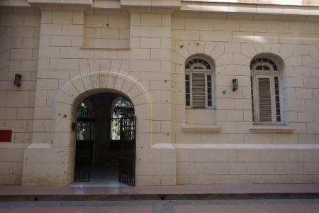 Bullet holes Museo de la Revolucion