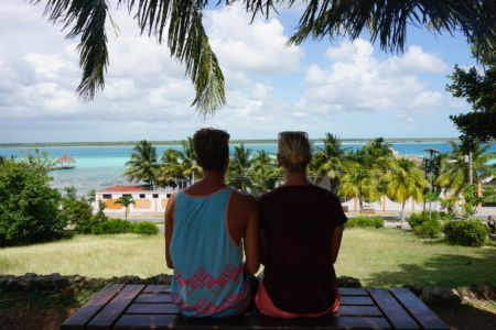 View From Bacalar City Mexico