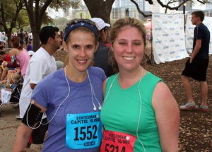 Cindy and Jenny after the Cap 10K