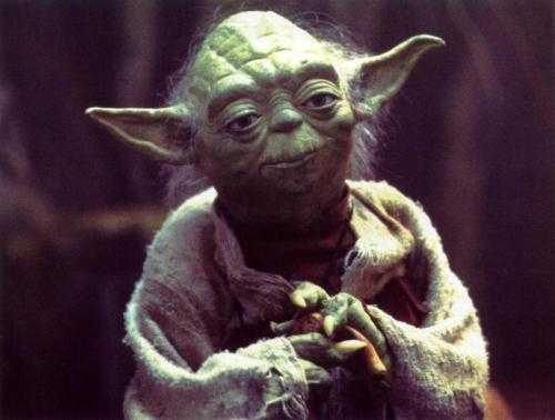 Image of the original Yoda from The Empire Strikes Back