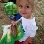 Madeline with bearded lizard