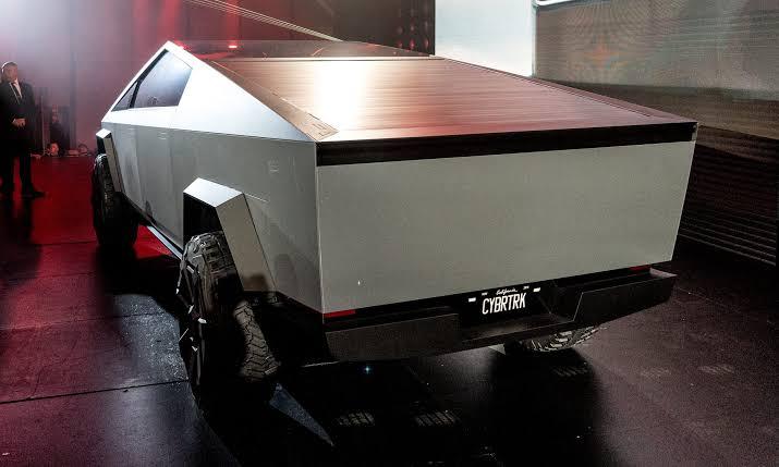 Tesla Cybertruck rear images