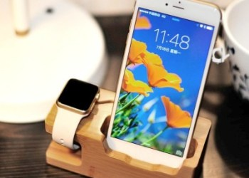 Bakeey Bamboo Multi Function Charger Dock