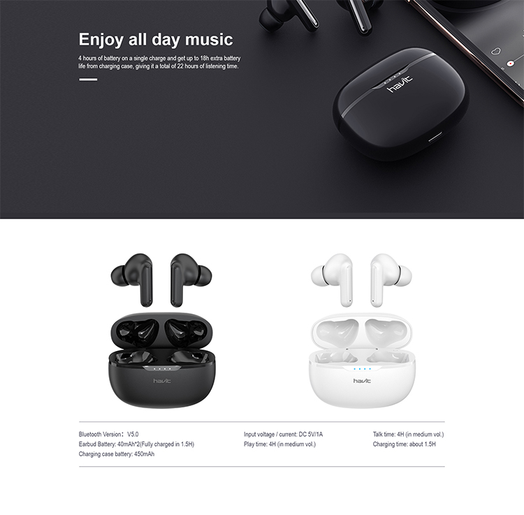 Havit i99 TWS earbuds 2