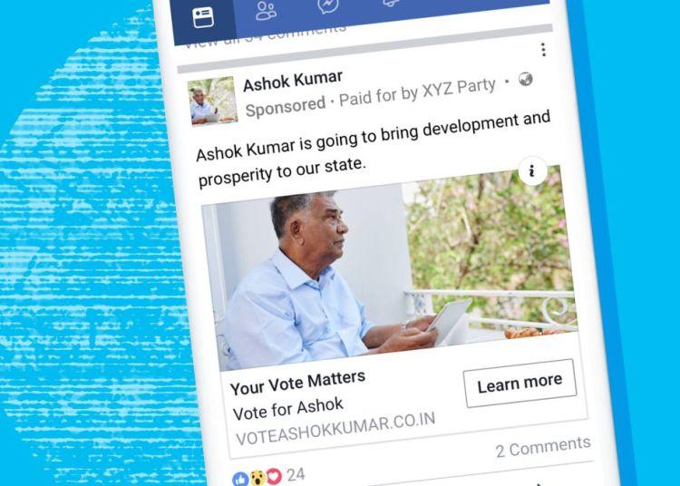 Facebook political ads ban
