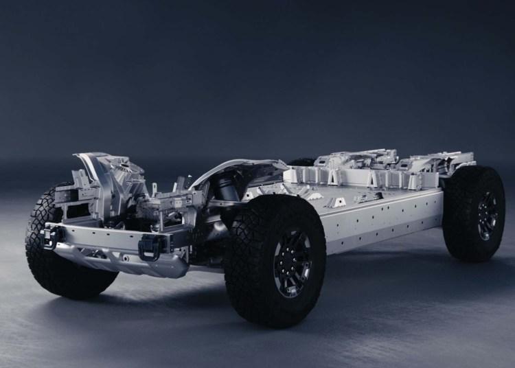 The drivetrain of the GMC Hummer EV 2022