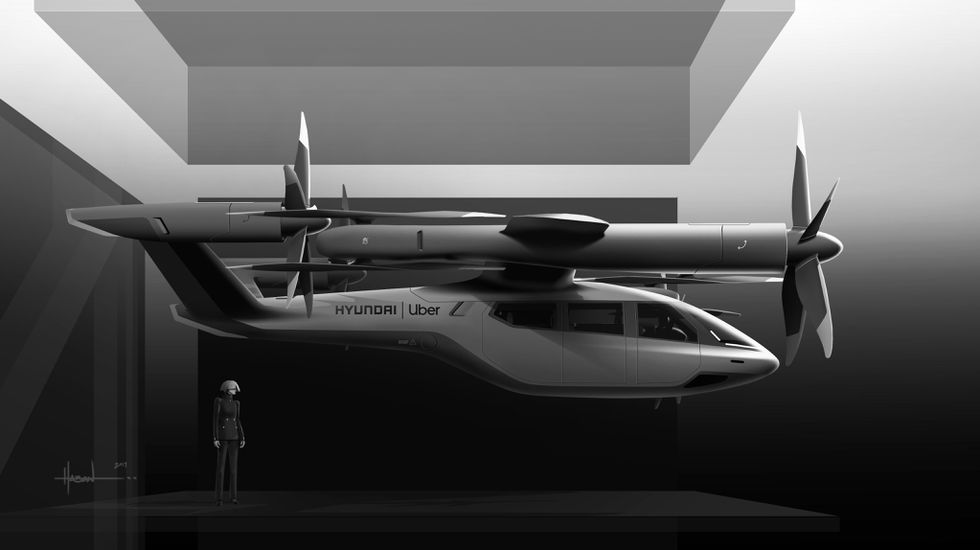 The size of the Hyundai Uber Air concept S-A1 is pretty normal