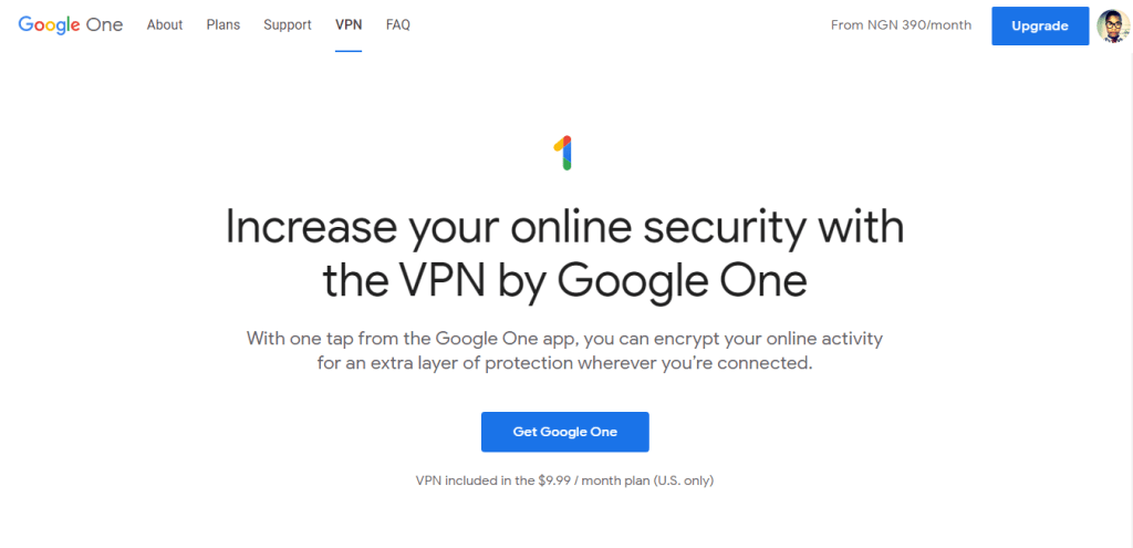 Google One VPN access