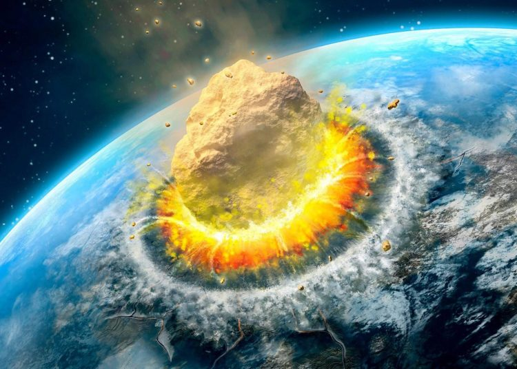 Asteroid impact scaled