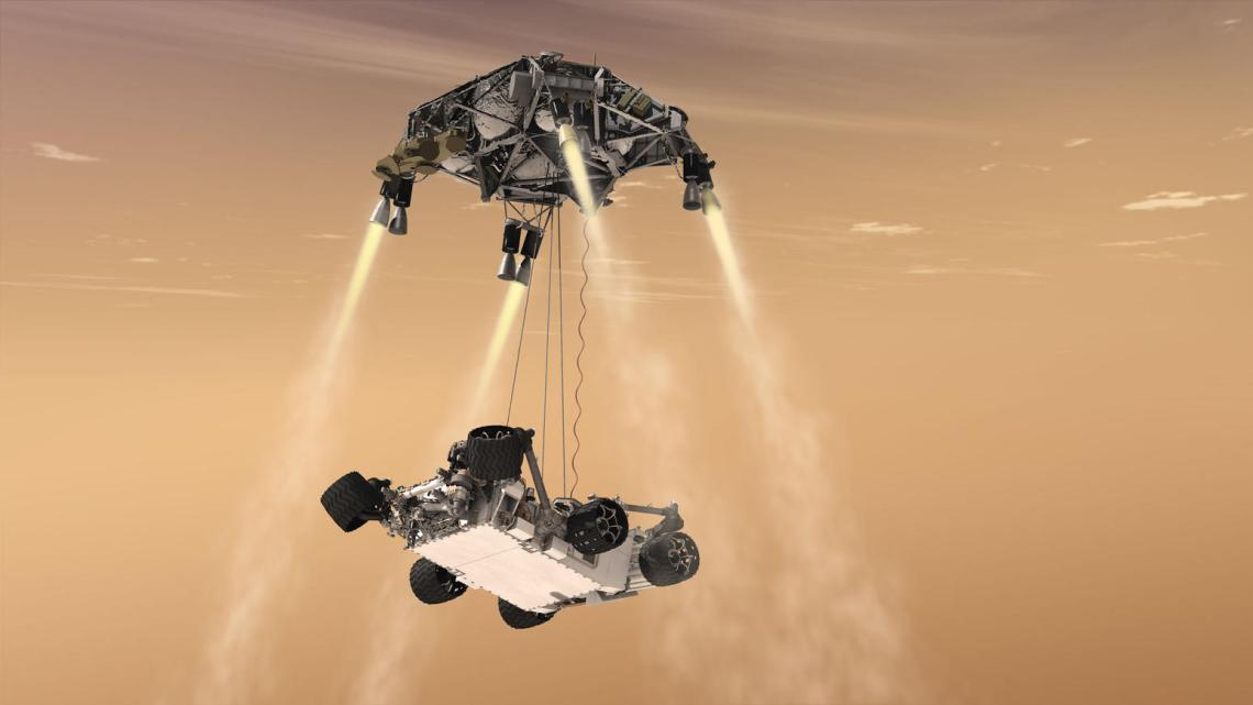 Another 3D representation of the EDL process of the NASA Perseverance rover on Mars