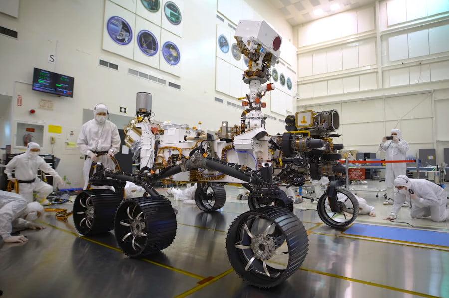 NASA Perseverance rover at the NASA research center