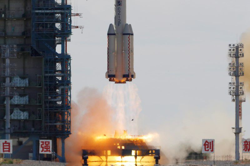 The mission took place at the  Jiuquan Satellite Launch Center for China's first manned mission to build its space station, near Jiuquan, Gansu province