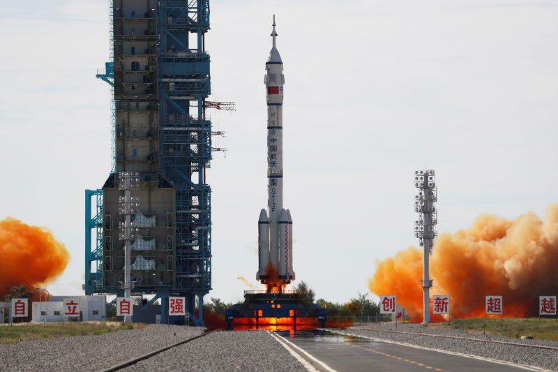 The manned mission is one of its first among other four crewed missions to build the Tianhe space station