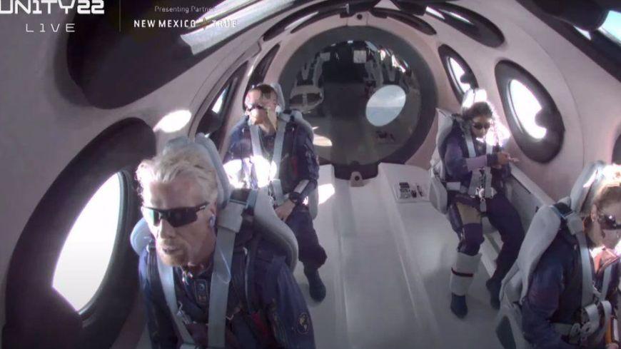 Richard Branson in space