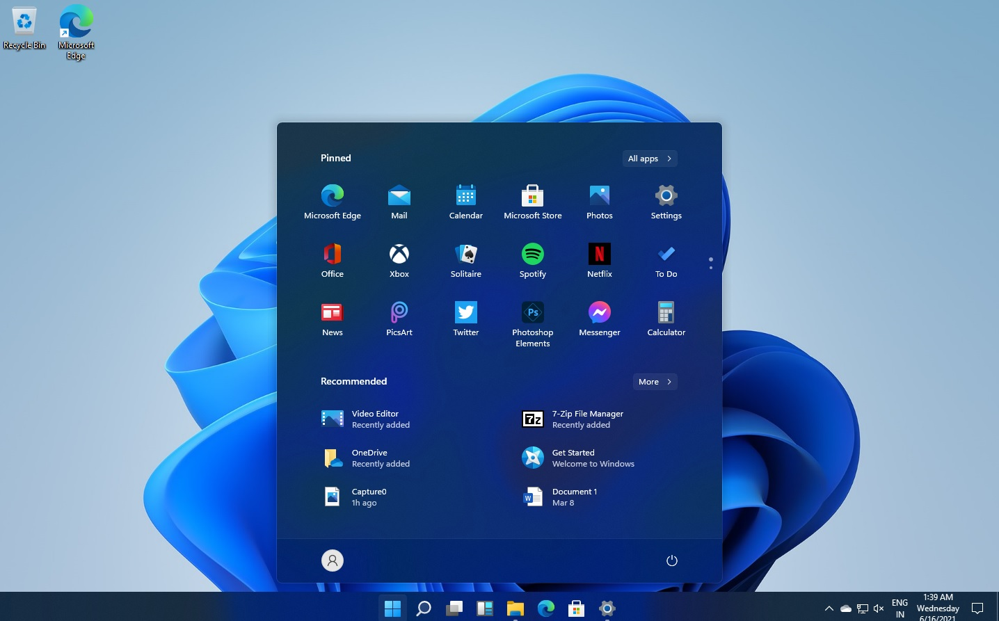 Find app by letter on Windows 11