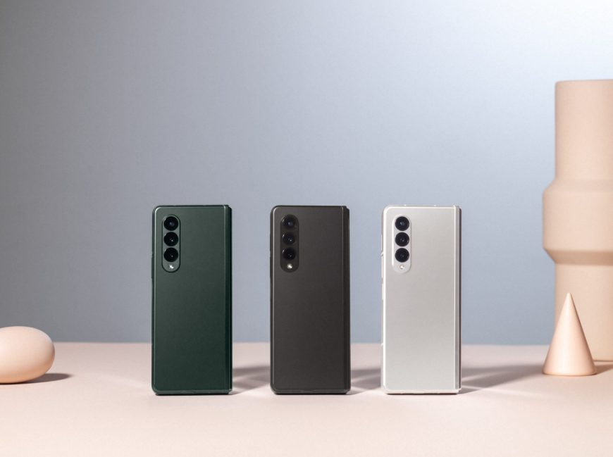 Galaxy Z Fold 3 triple color options