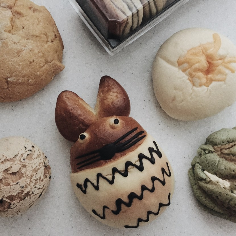 totoro cat bread, tous les jours beijing - august lately | brunch at audrey's