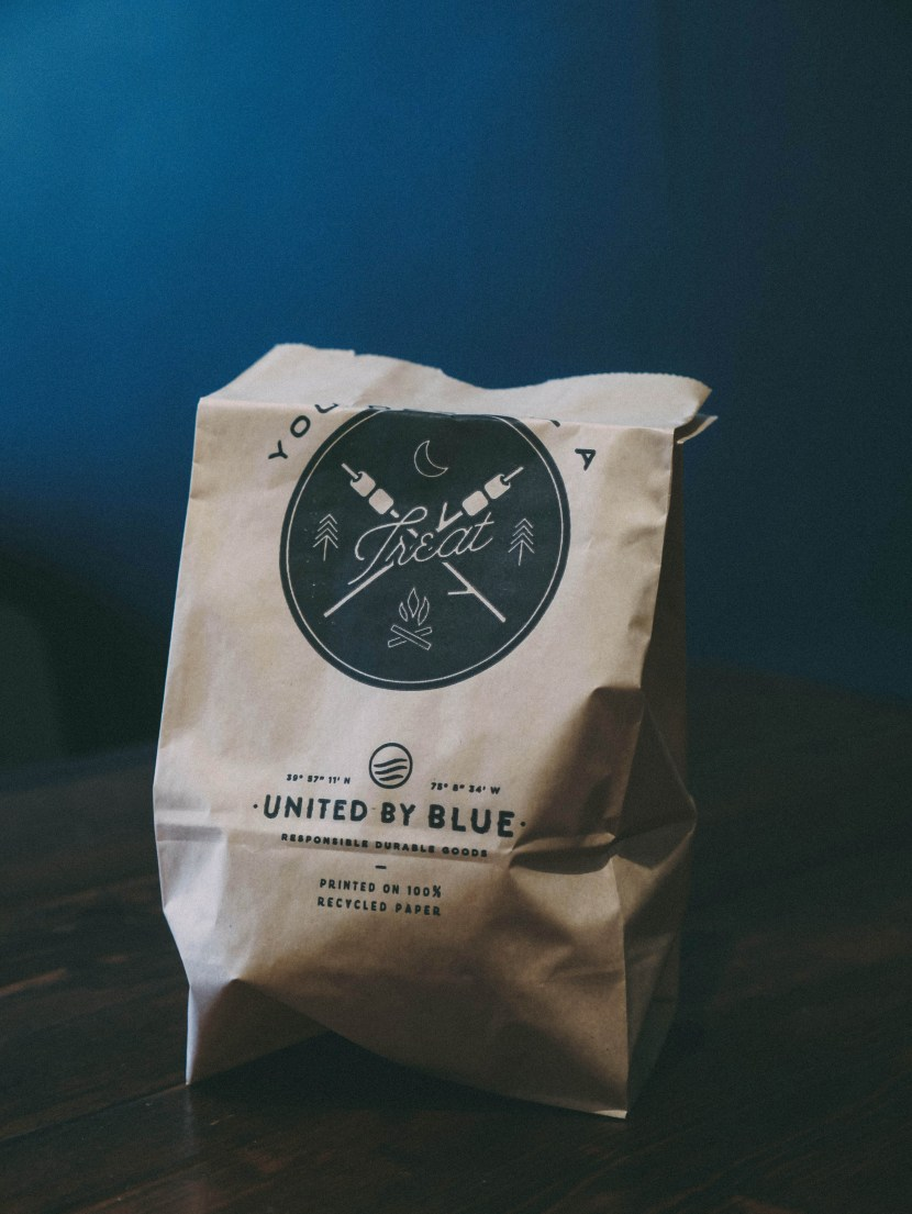 takeout bag, united by blue | brunch at audrey's