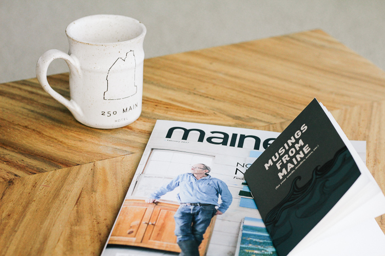 A Coastal Maine Weekend at 250 Main in Rockland, Maine.