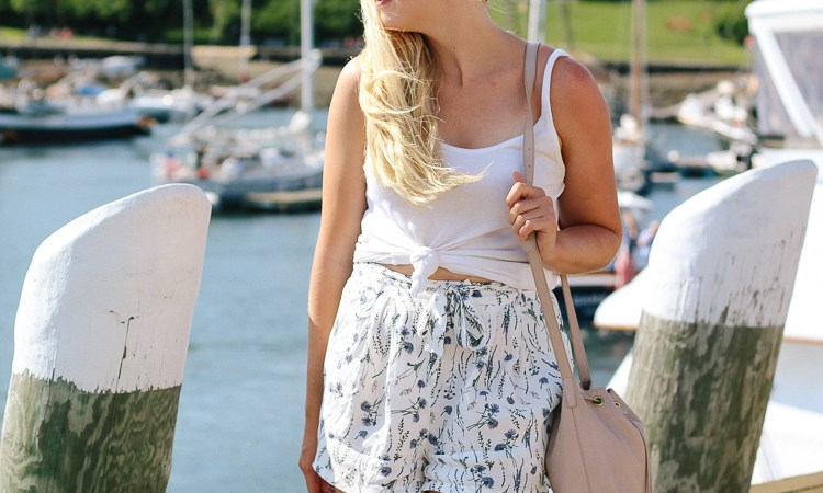 floral shorts in Camden, Maine