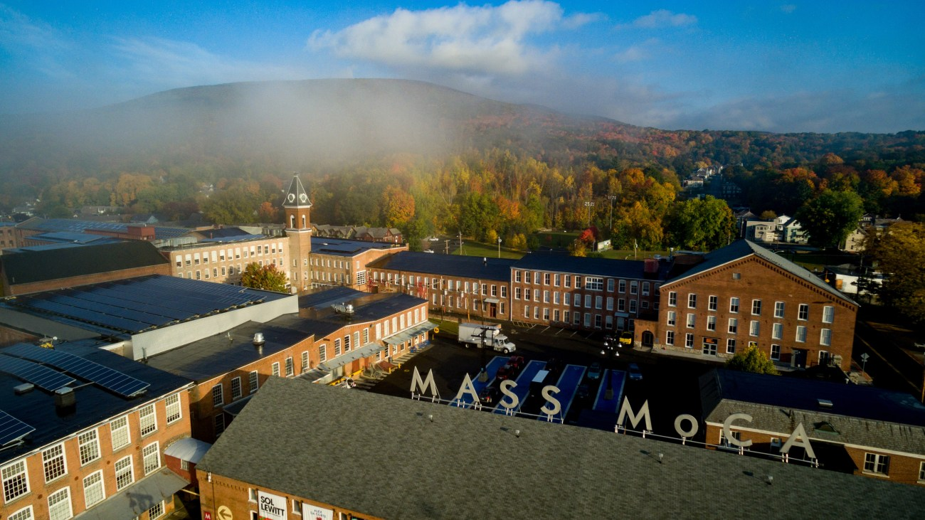 aerial view of MASS MoCA campus
