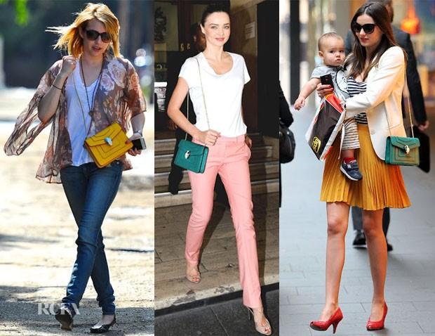Celebrities wearing Bulgari Serpenti bags