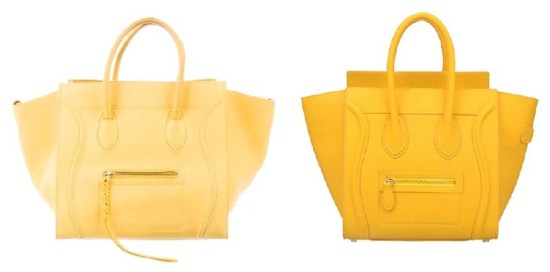 Celine Yellow Luggage Handbag and Celine Bags Dupes