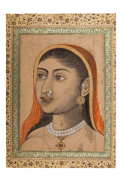 Calligraphic Album Page from the Friedrich Sarre Collection North India, Mughal or Lucknow Late-18th century