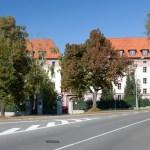 Kaunicovy koleje z ulice Březinova