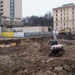 Výstavba garáží na Veselé
