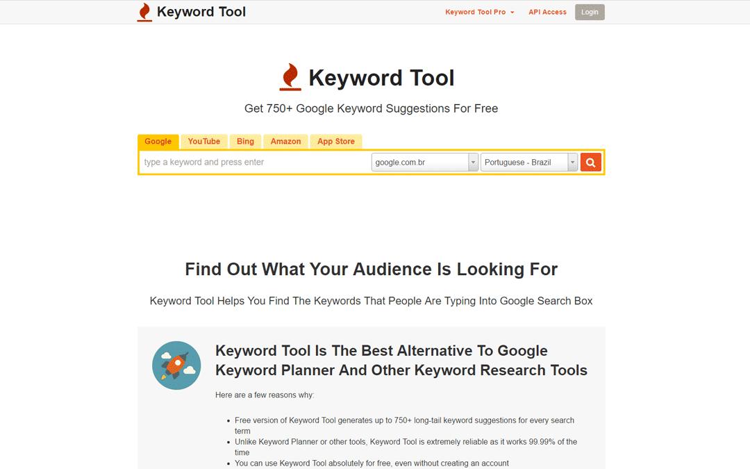 Ferramentas de SEO - Keyword Tool