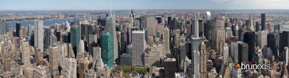 Vue depuis le nord de l'Empire State Building