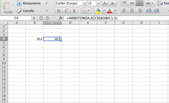 Arrotonda con Excel