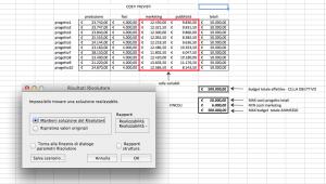 Risolutore Excel