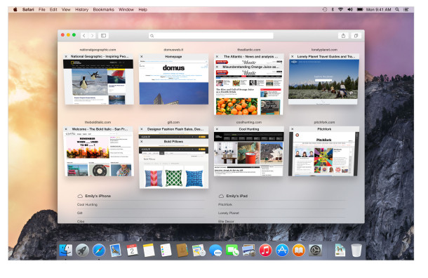 osx yosemite Safari