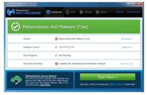 Malwarebytes elimina Malware